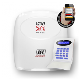Central de Alarme - Active-20 Ultra - 20 zonas JFL